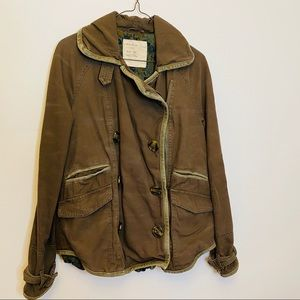 Free People Olive Color Military Jacket